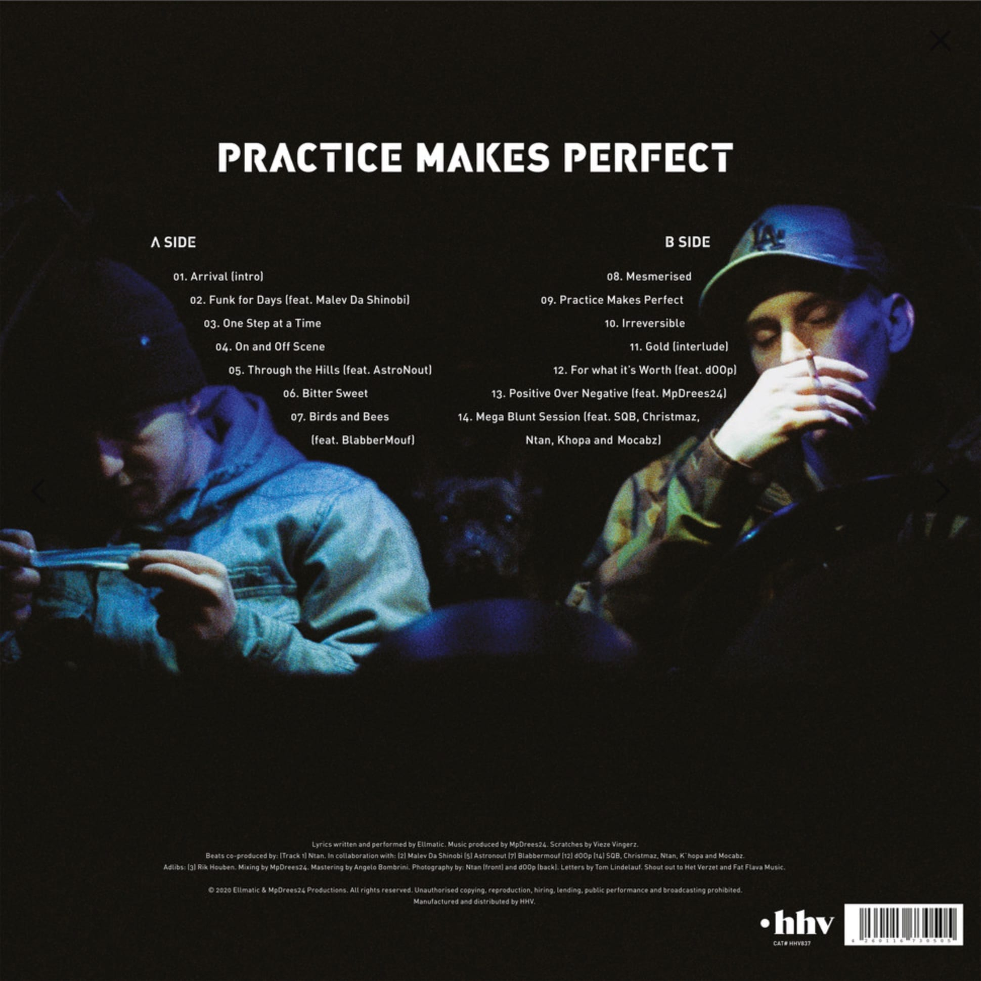 EllMatic en MpDrees24 - Practice Makes Perfect album back