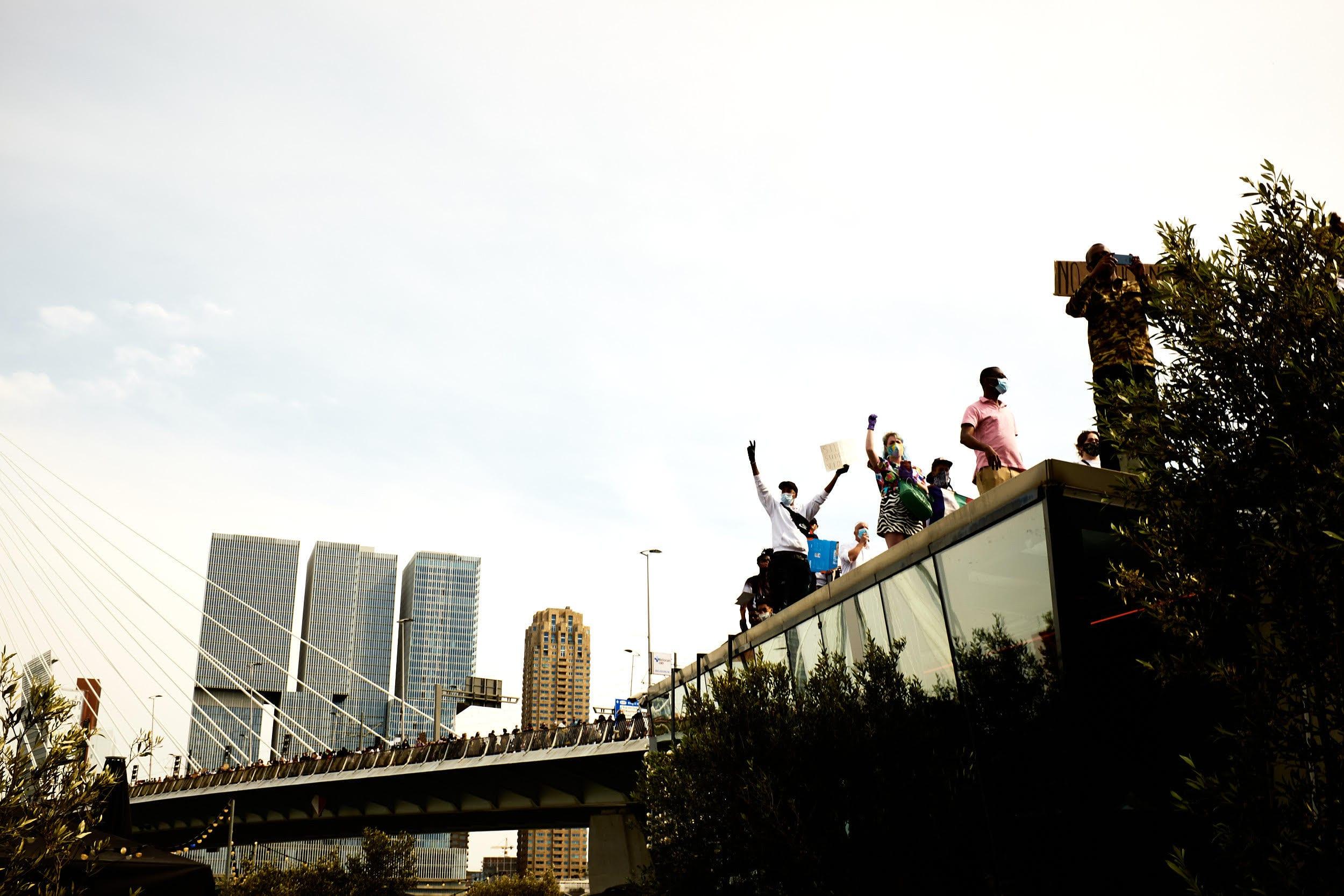 Black Lives Matter demonstratie in Rotterdam. Foto: Willem de Kam