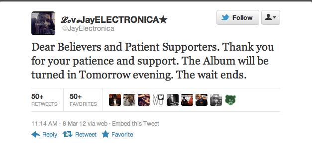 Jay Electronica tweet